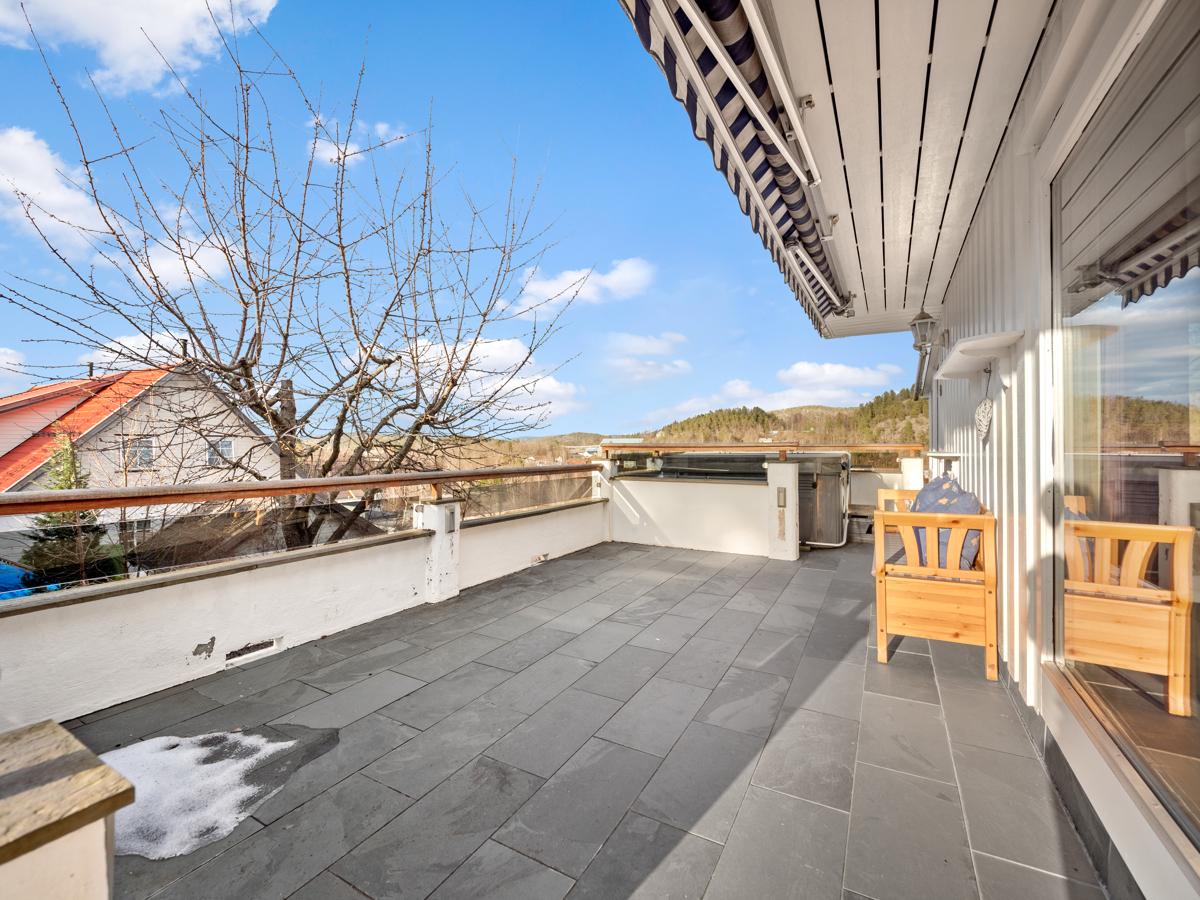 Veranda/terrasse.
