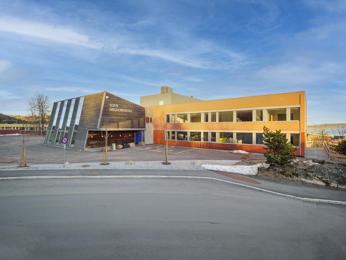 Ungdomsskolen på Tofte.