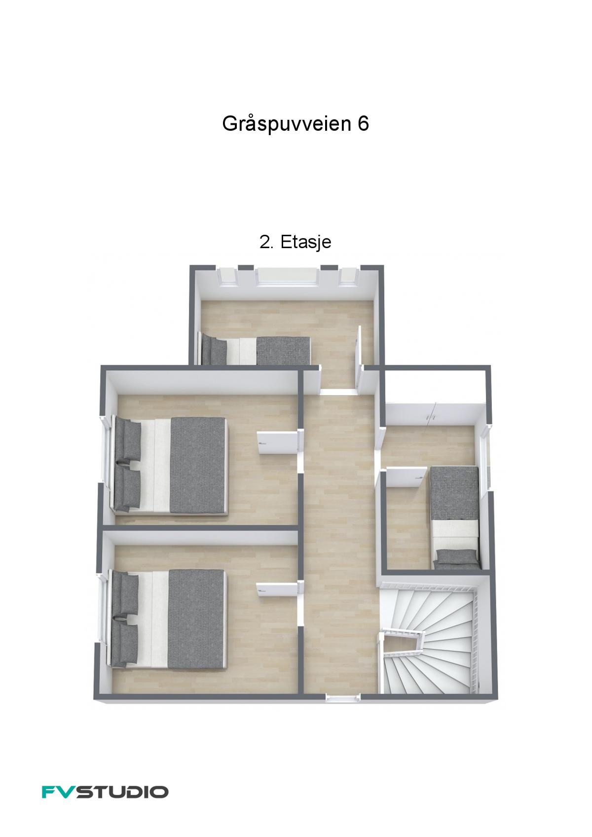Plantegning 2 etasje