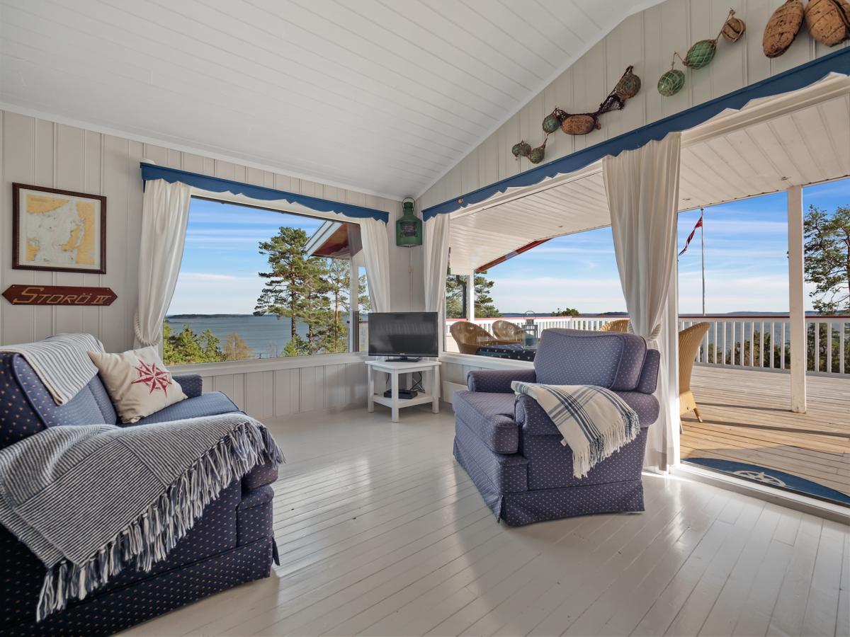 Stue med utgang til terrassen