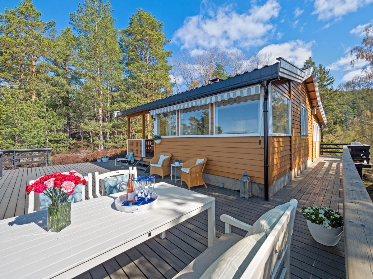 Gode solforhold på terrassen