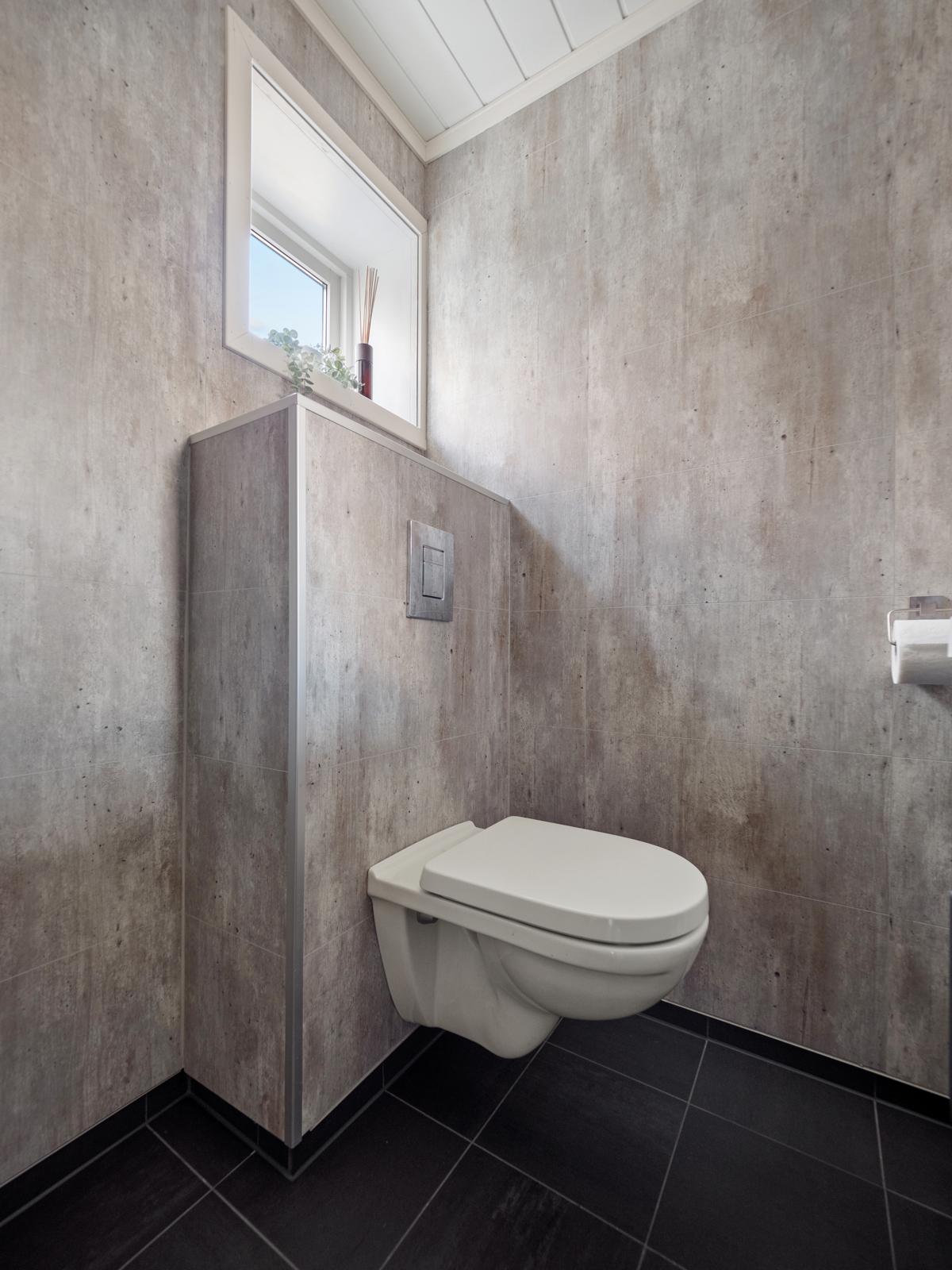 Vegghengt toalett.