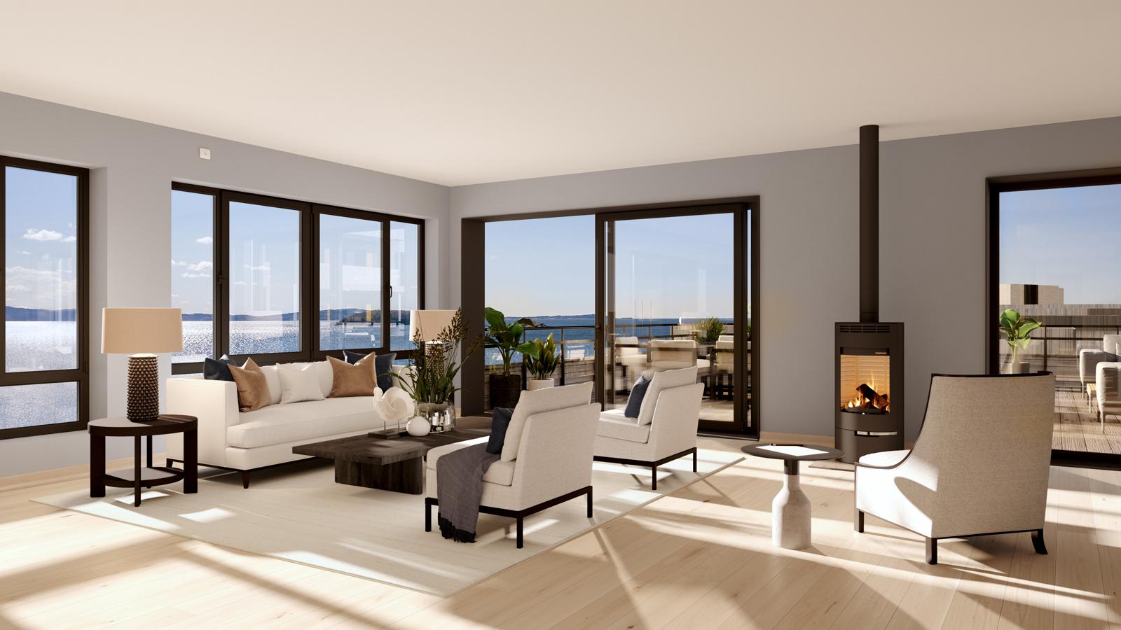 7.4.1 stue mot terrasse, helt fantastisk toppleilighet