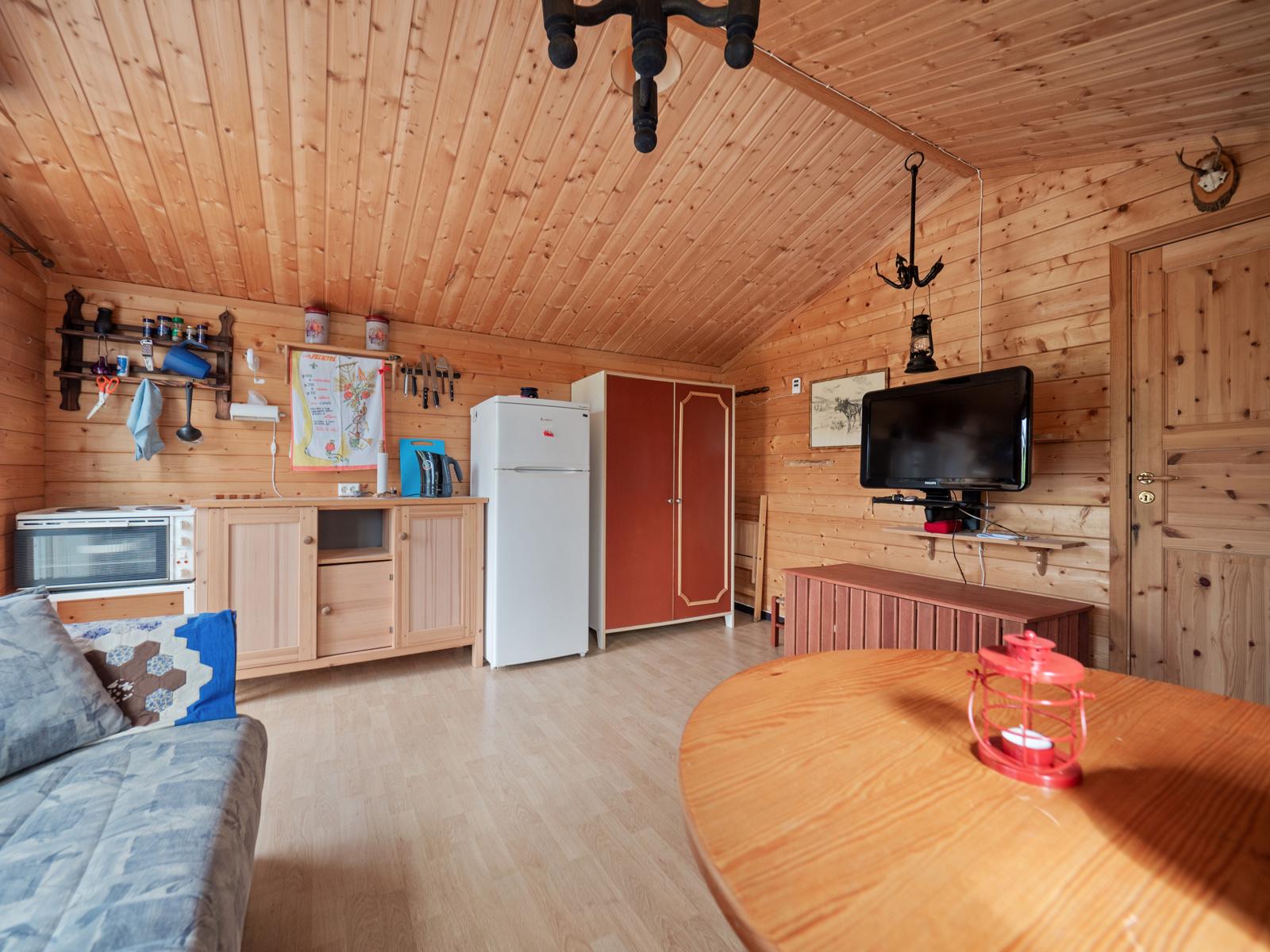 Annekset er utstyrt med enkel kjøkkenkrok