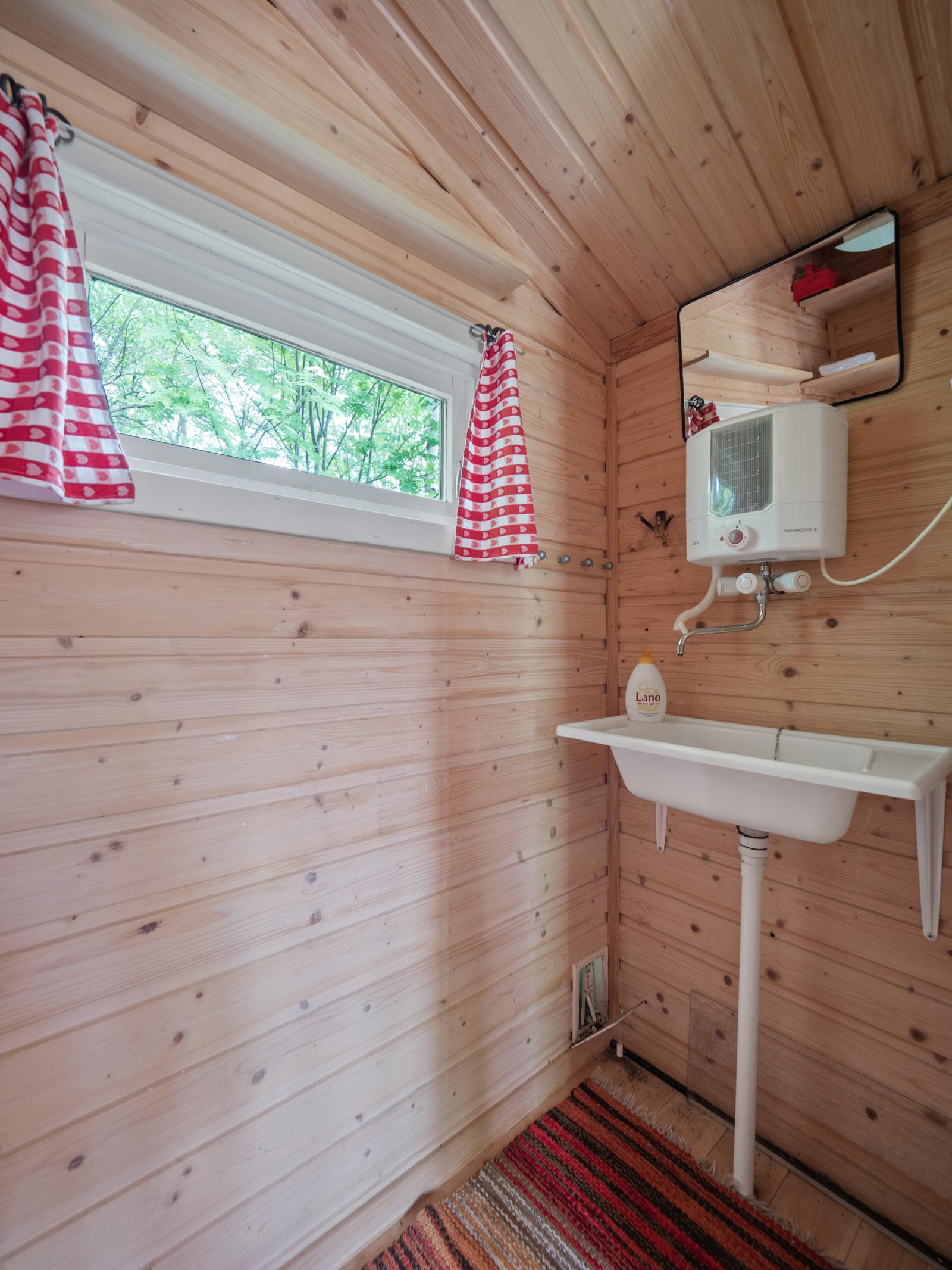 Annekset har eget toalettrom