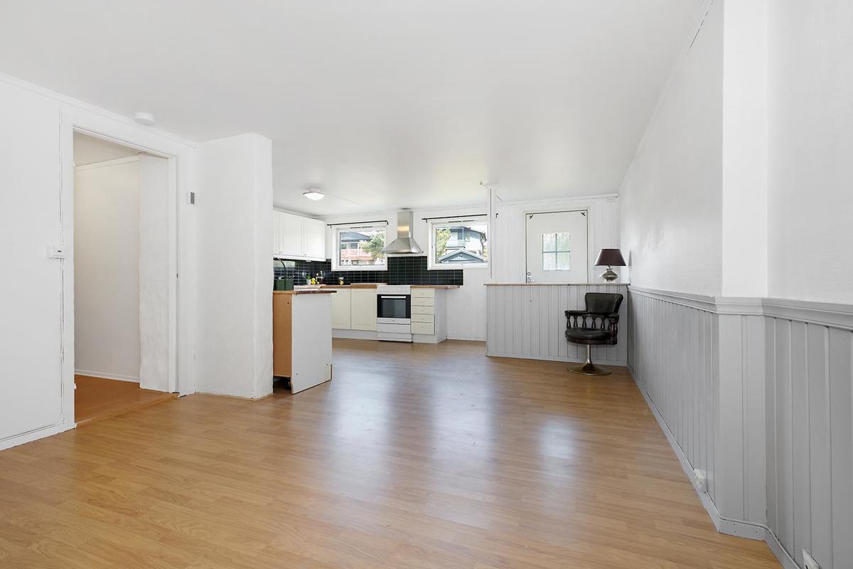 Kjøkken/stue i hybel