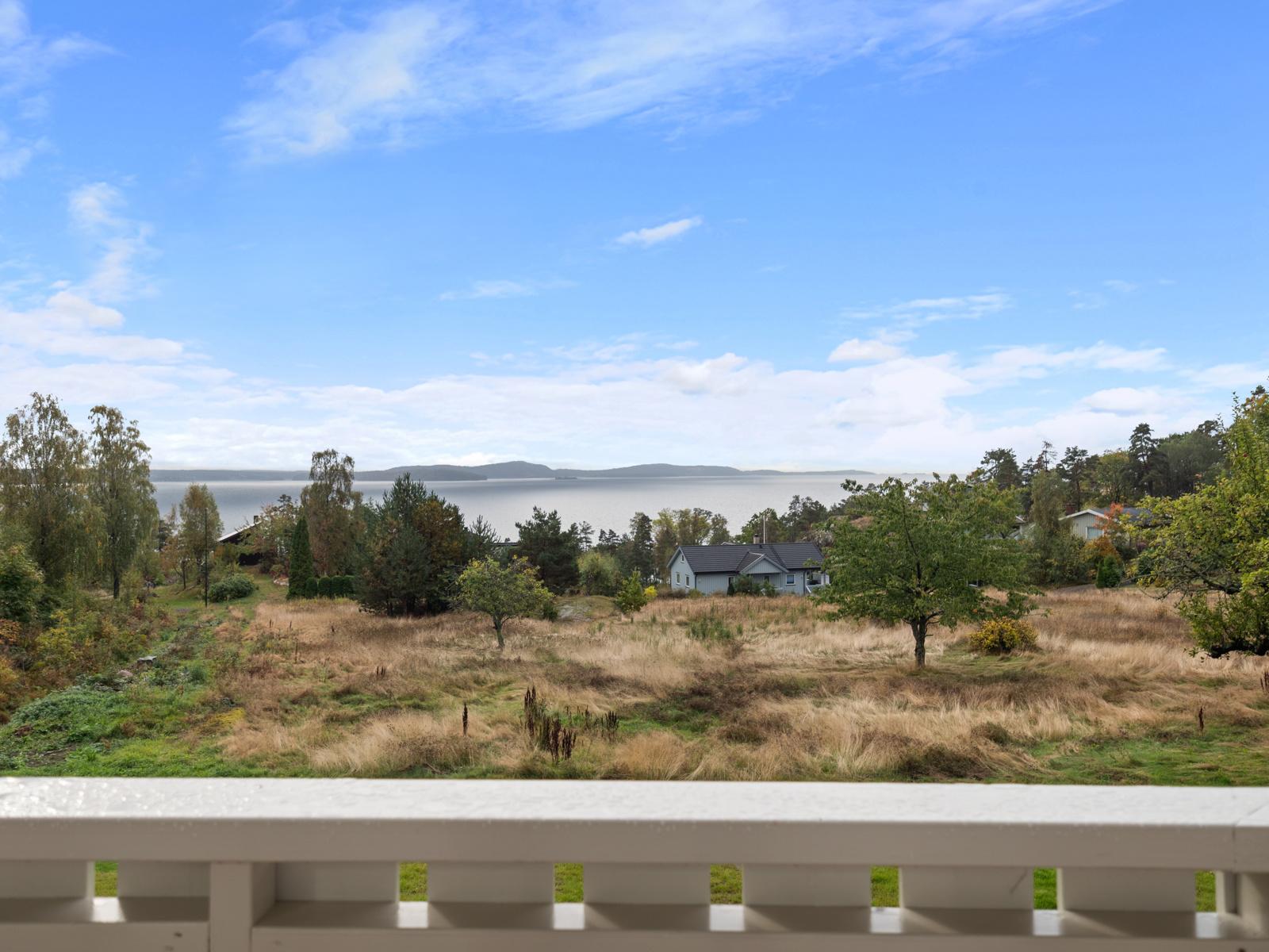 Flott utsikt utover Oslofjorden