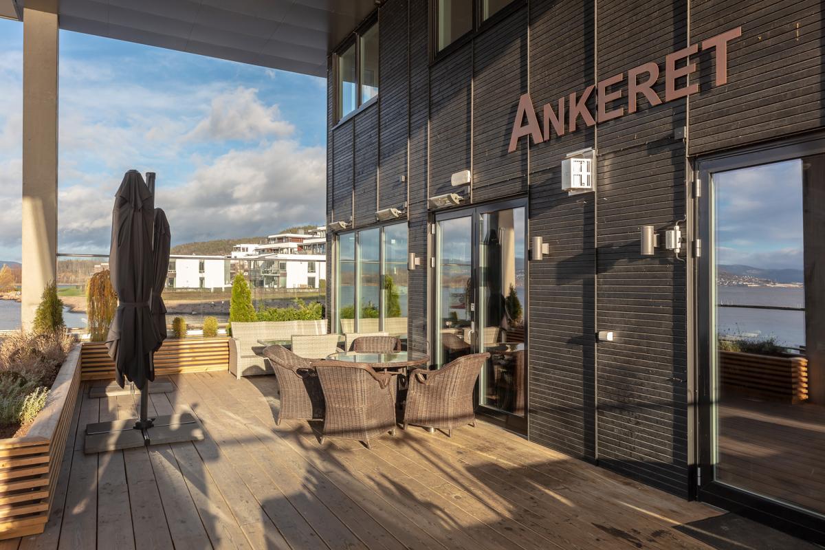 Området Engersand Havn - egen restaurant på området