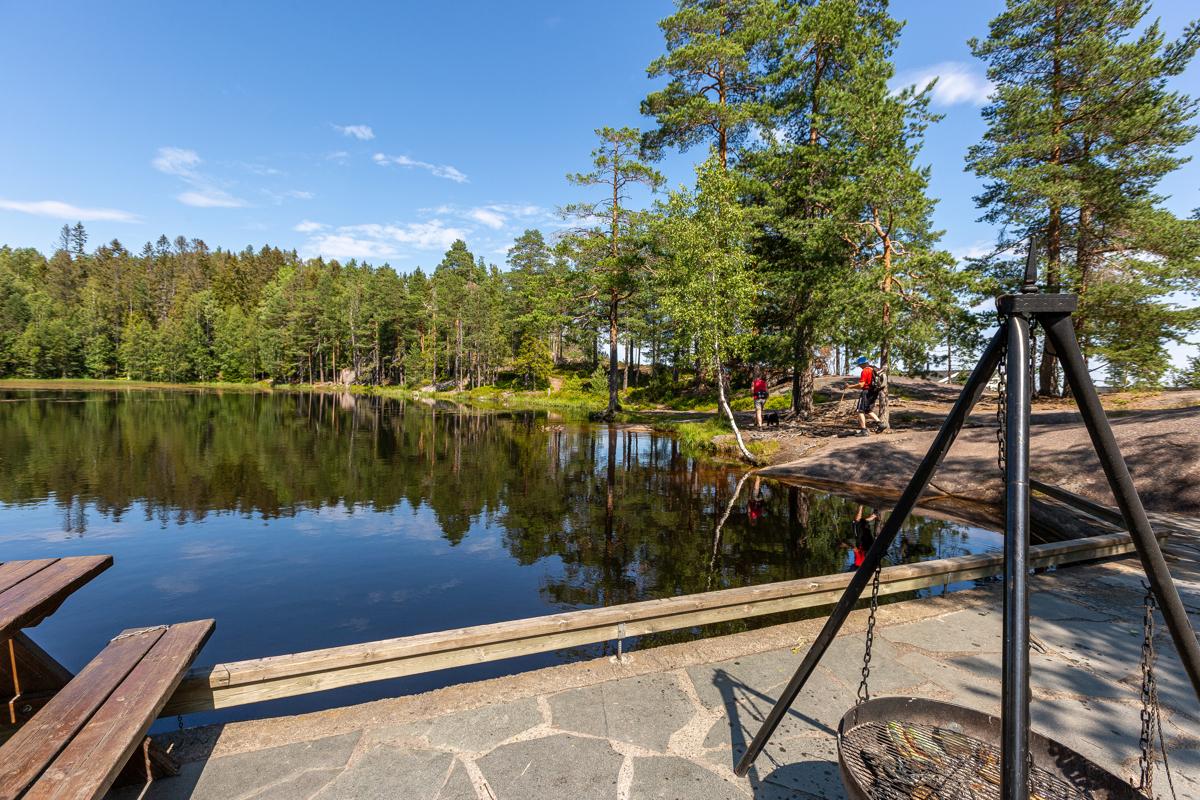 Mange flotte turmuligheter både sommer og vinter i Kjekstadmarka. Her fra Vesledammen