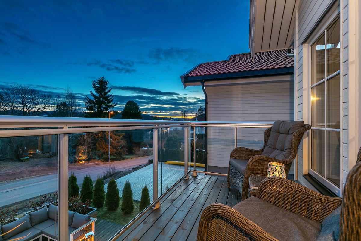 Kveldsstemning på balkongen