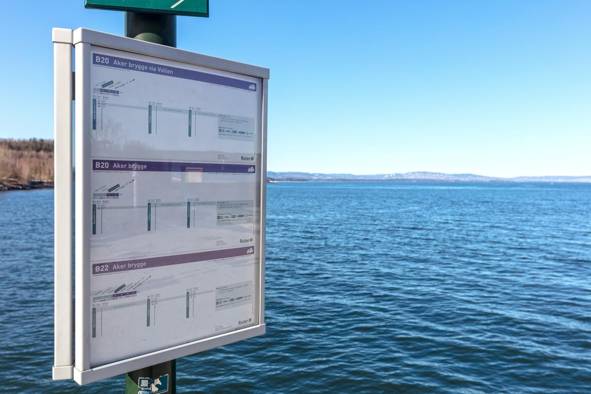 Hurtigbåt fra Slemmestad og Aker brygge