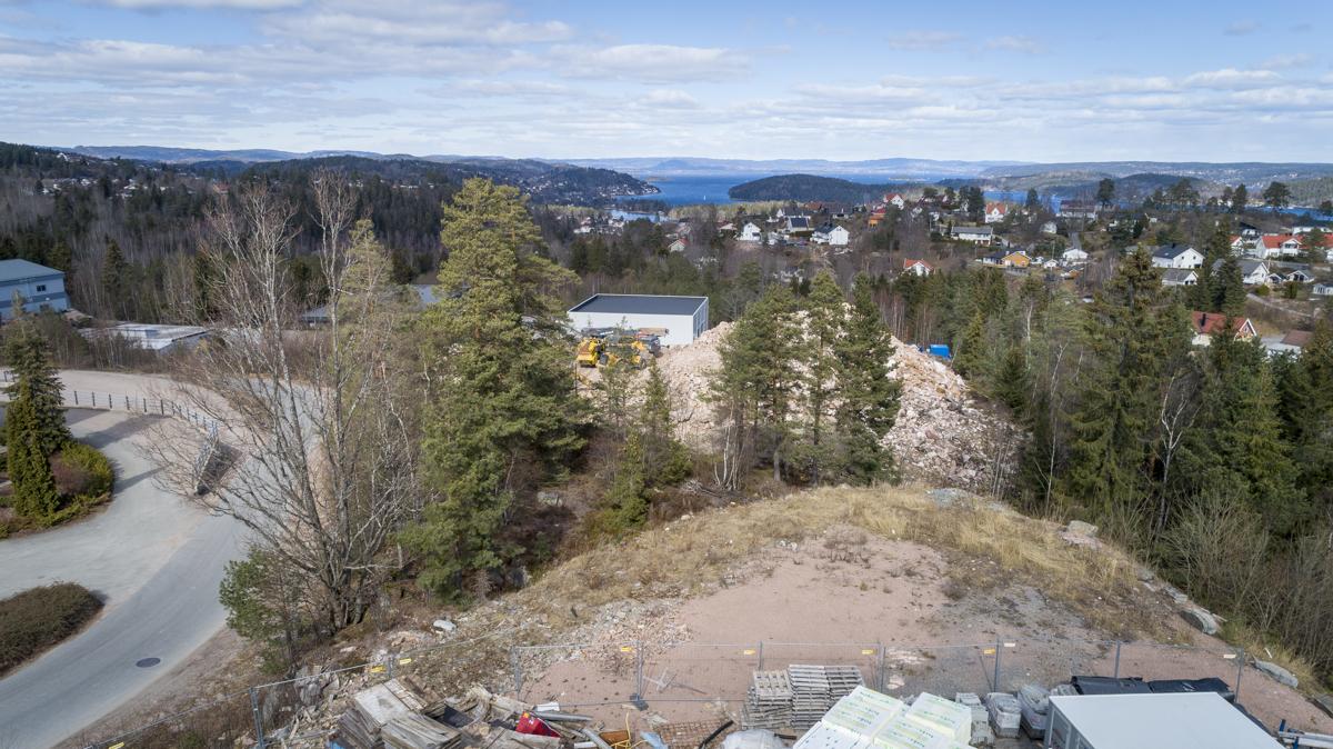 Antatt utsikt fra kontodelen i bygget - du ser Oslofjorden