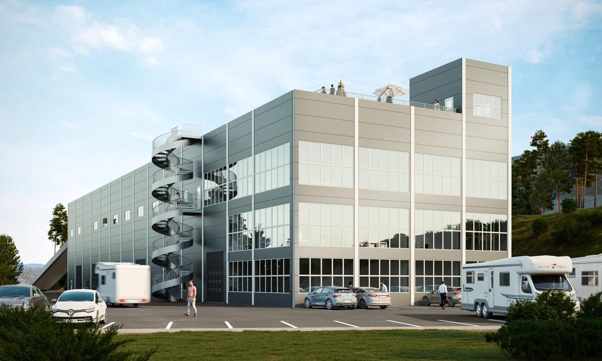 Moderne og stilig bygg