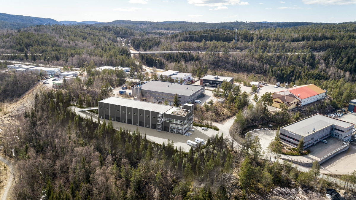 Dronefoto mot Åsveien