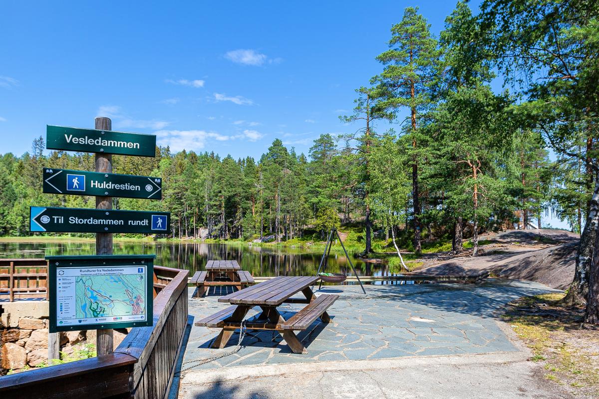 Mange flotte turmuligheter både sommer og vinter i nærområdet - Kjekstadmarka.