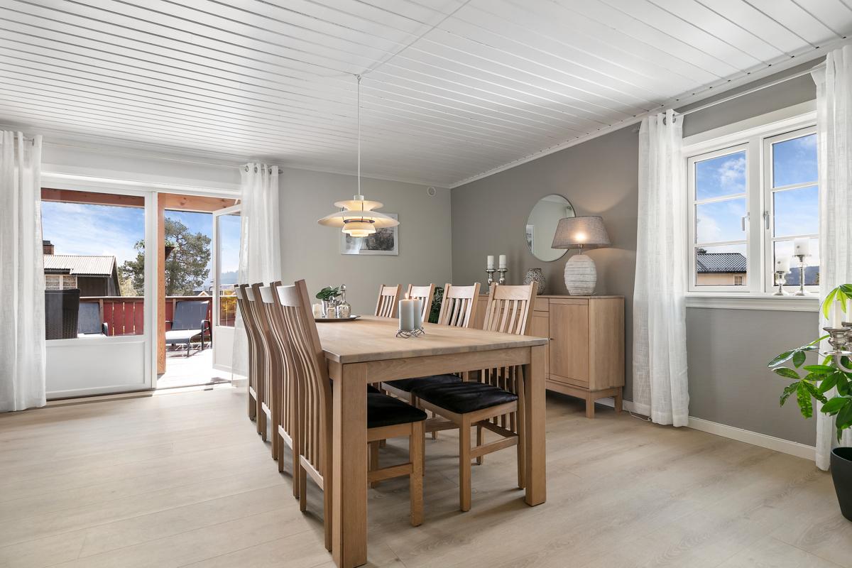 Stue med utgang til ca. 50 kvm terrasse