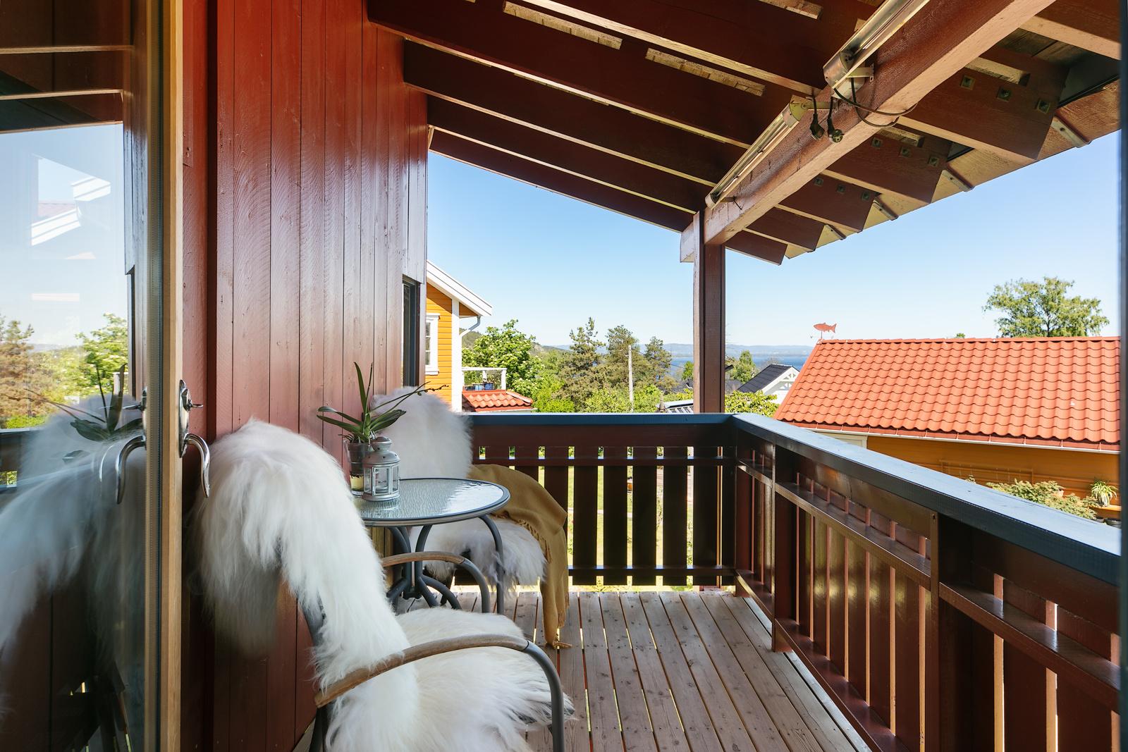 Balkong utenfor stue