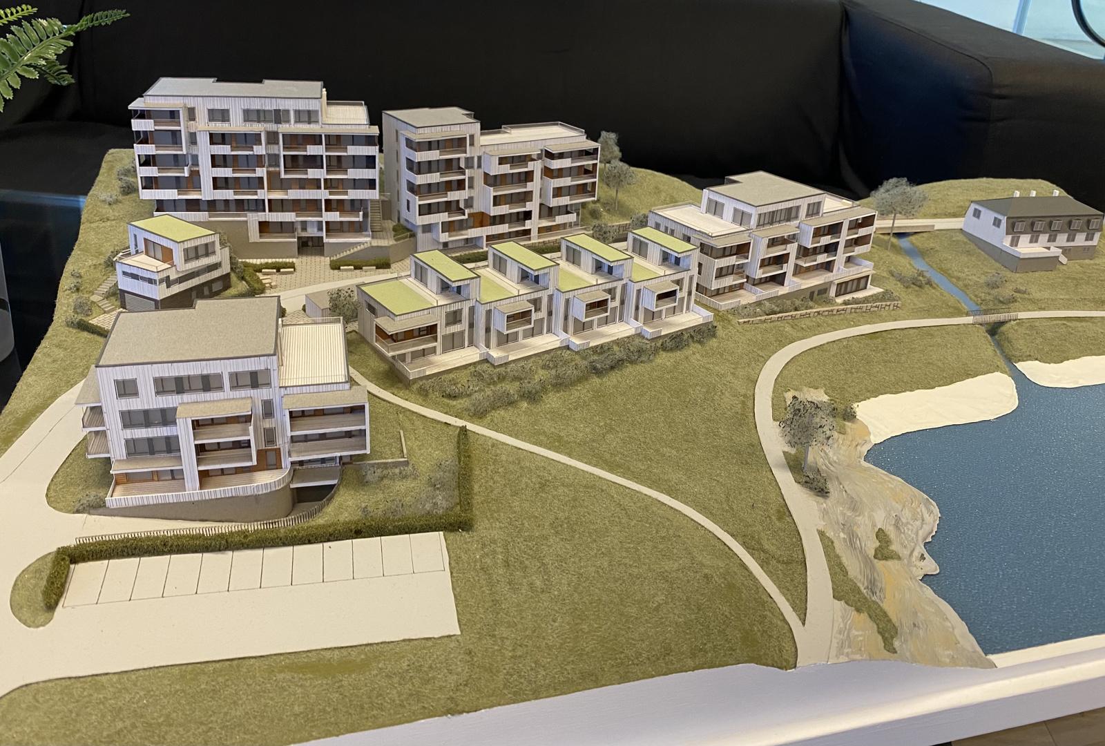 Bilde av modellen som du finner på visningssenteret