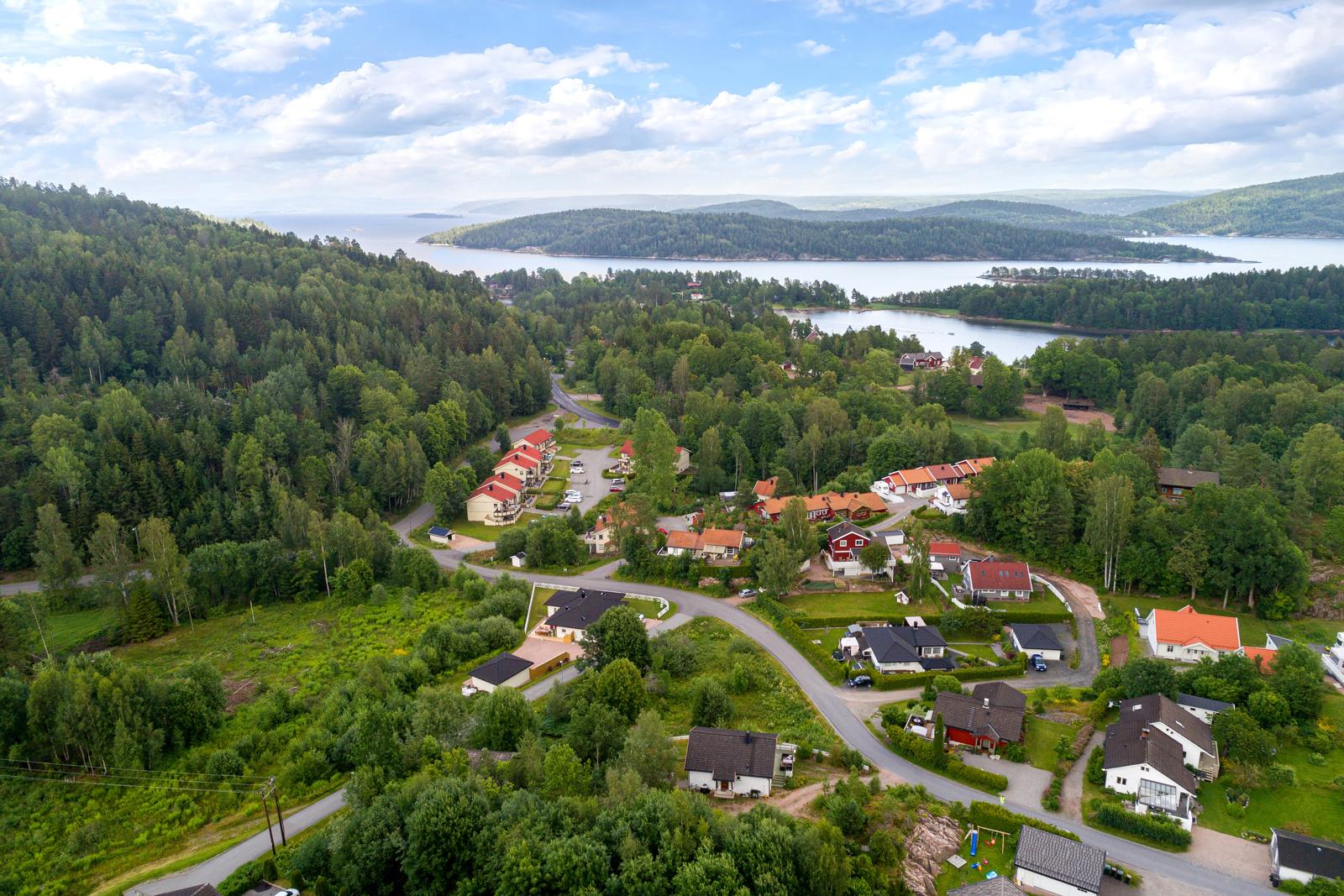Dronefoto mot Åros