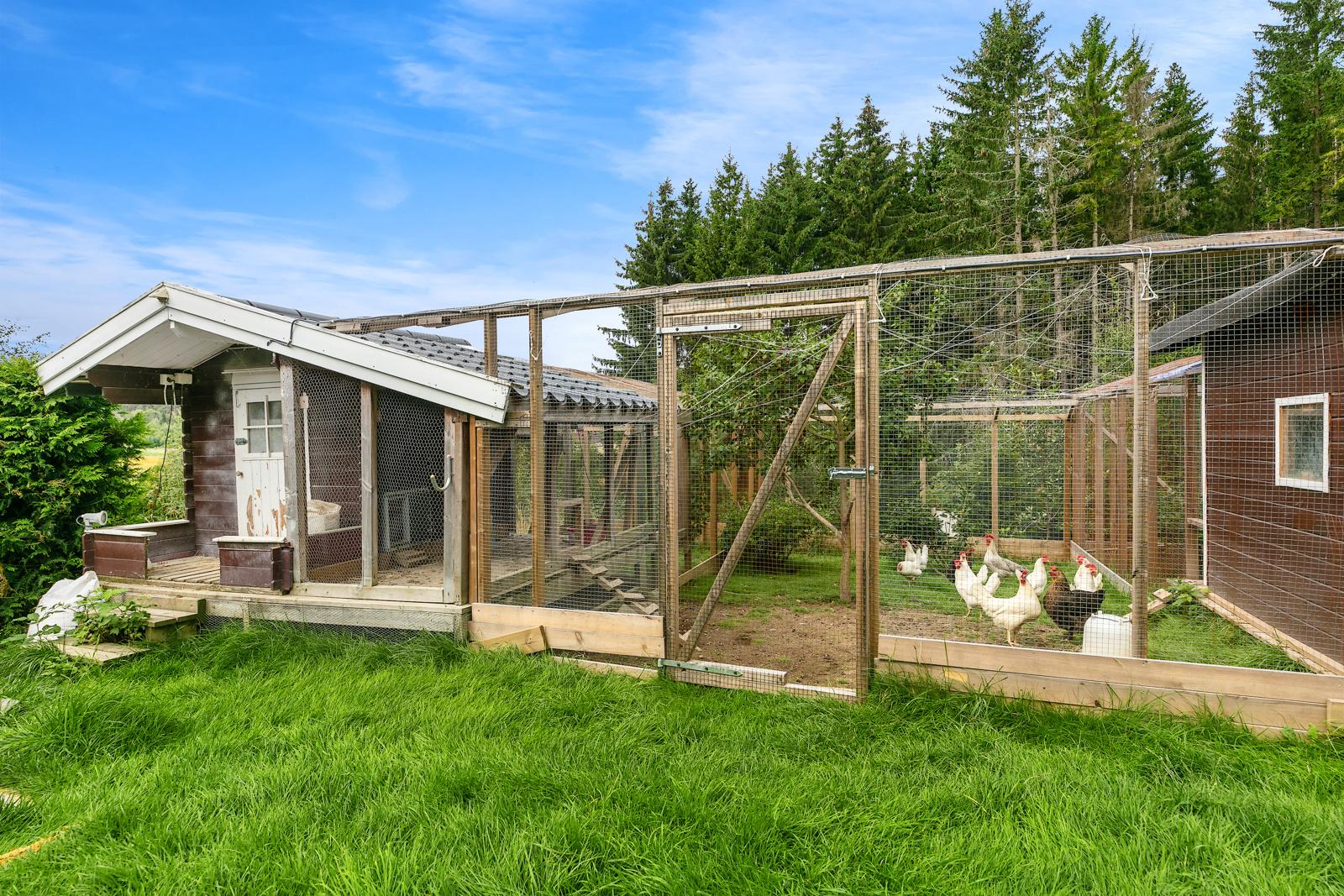 Hønsegård, hønene kan følge med i handelen