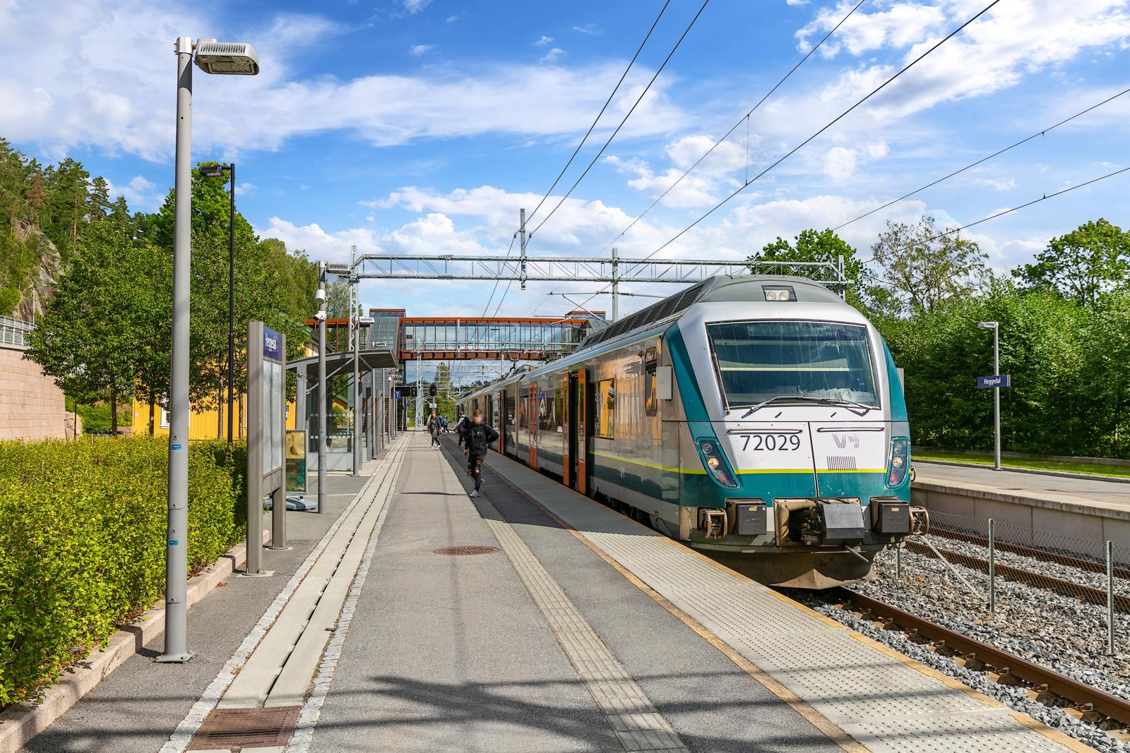 Heggedal togstasjon med 2 togavganger pr. time retning Asker og Oslo
