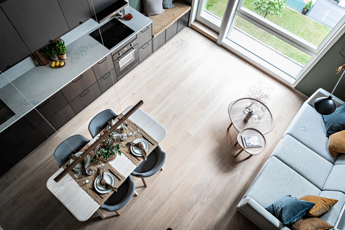 Velkommen til et moderne og påkostet 3-roms townhouse i Grüner Village midt på Løkka